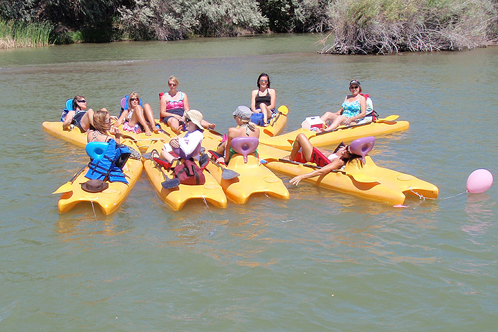 This group of ladies from Mini-Cassia float the river every summer at Kane's Kove.