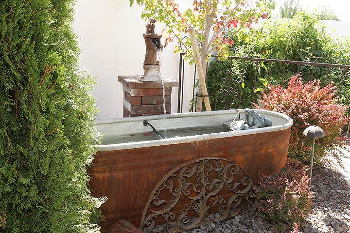 Diy outdoor water feature southern idaho living for Garden waterfalls do it yourself